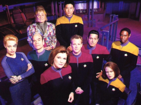 The Senior Staff of the USS Voyager, as of Season 5.